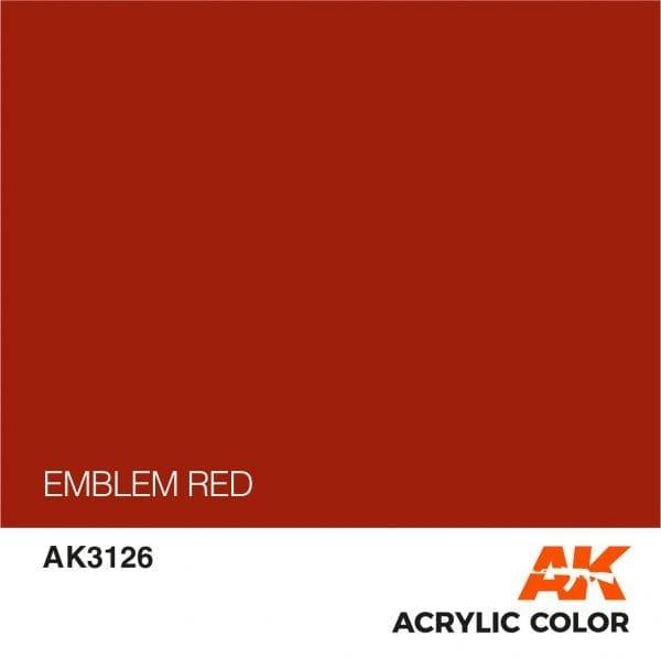 AK3126 EMBLEM RED