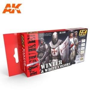 AK3160 acrylic paint set akinteractive modeling