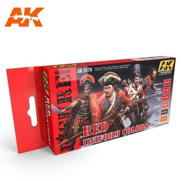 AK3170 acrylic paint set akinteractive modeling