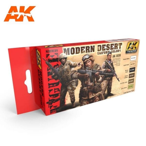 AK3220 acrylic paint set akinteractive modeling