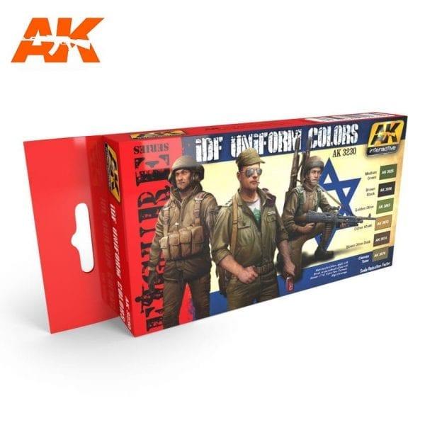 AK3230 acrylic paint set akinteractive modeling