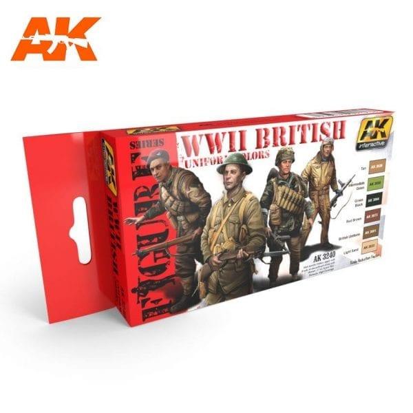 AK3240 acrylic paint set akinteractive modeling