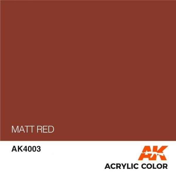 AK4003 MATT RED