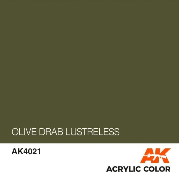 AK4021 OLIVE DRAB LUSTRELESS