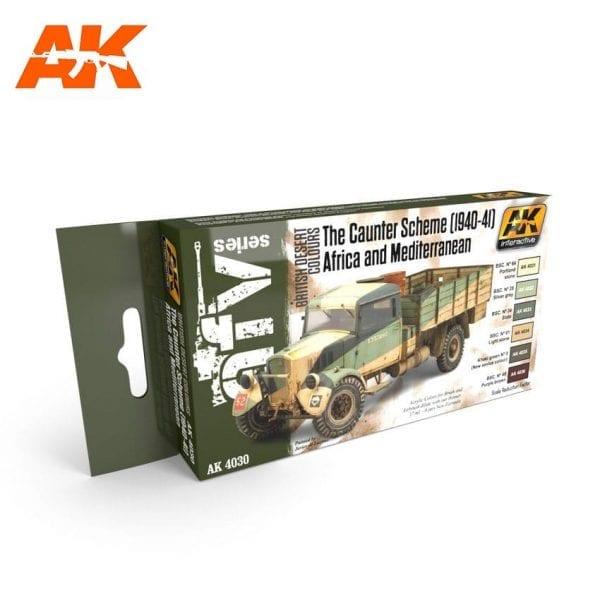 AK4030 acrylic paint set akinteractive modeling