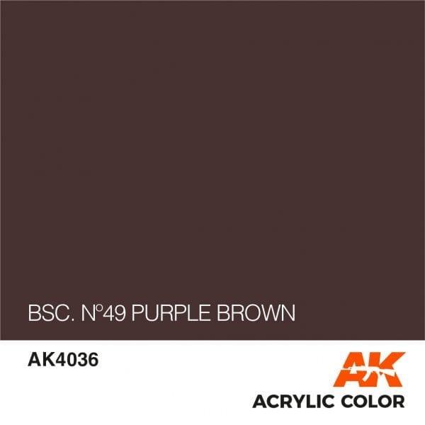 AK4036 BSC. Nº49 PURPLE BROWN