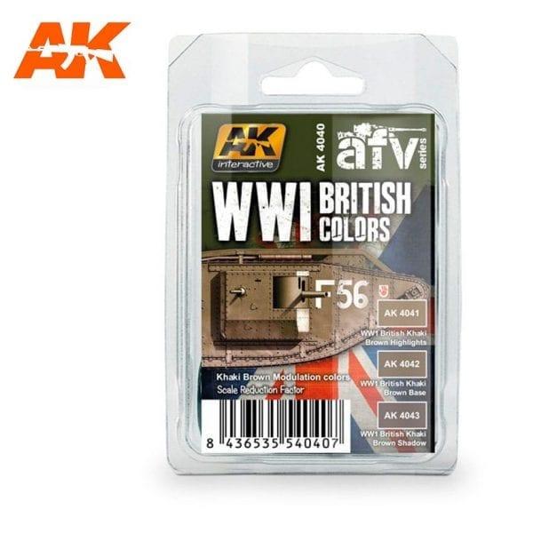 AK4040 acrylic paint set akinteractive modeling