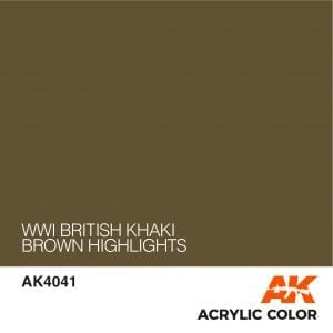 AK4041 WWI BRITISH KHAKI BROWN HIGHLIGHTS