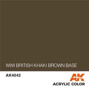 AK4042 WWI BRITISH KHAKI BROWN BASE
