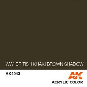 AK4043 WWI BRITISH KHAKI BROWN SHADOW