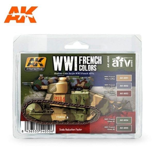 AK4050 acrylic paint set akinteractive modeling