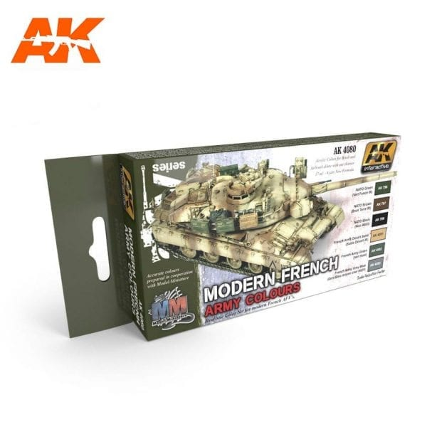 AK4080 acrylic paint set akinteractive modeling