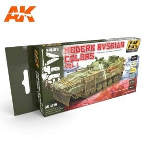 AK4130 acrylic paint set akinteractive modeling