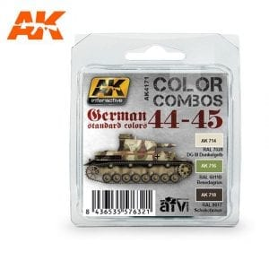 AK4171 acrylic paint set akinteractive modeling