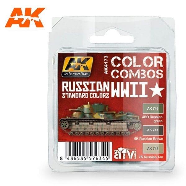 AK4173 acrylic paint set akinteractive modeling