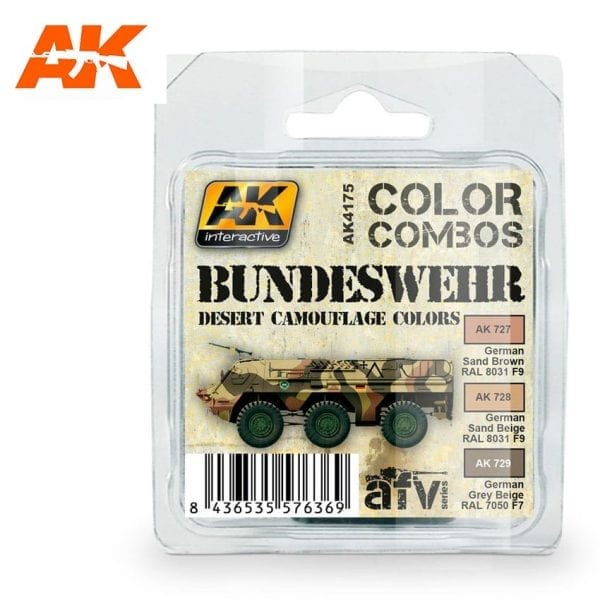 AK4175 acrylic paint set akinteractive modeling