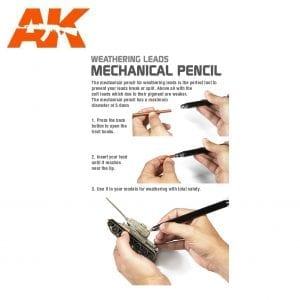 AK4189 mechanical pencil akinteractive lead weathering hard soft