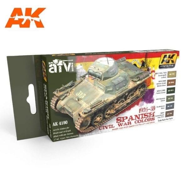 AK4190 acrylic paint set akinteractive modeling