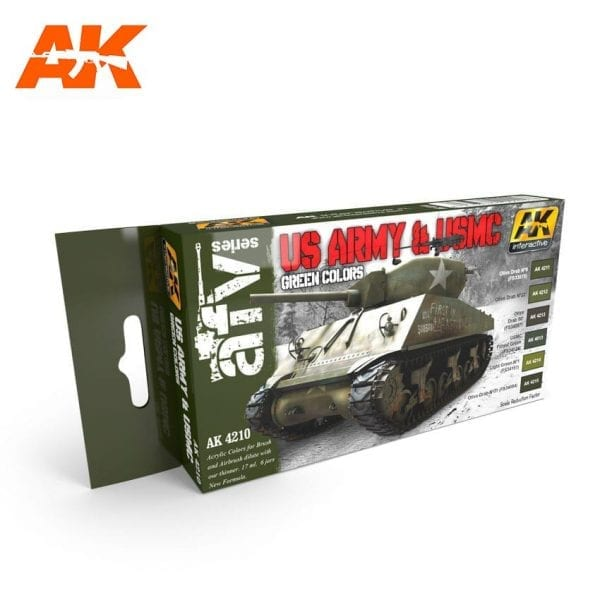 AK4210 acrylic paint set akinteractive modeling
