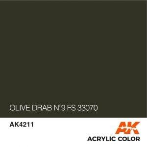 AK4211 OLIVE DRAB Nº9 FS 33070