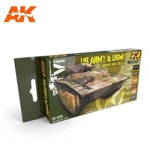 AK4220 acrylic paint set akinteractive modeling