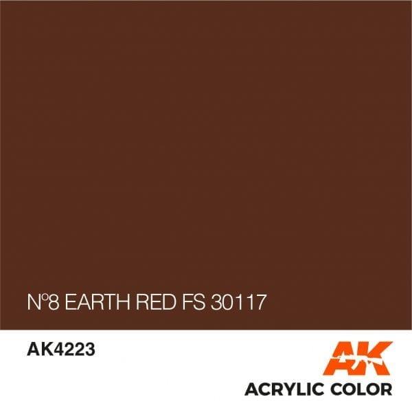 AK4223 Nº8 EARTH RED FS 30117