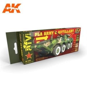 AK4240 acrylic paint set akinteractive modeling