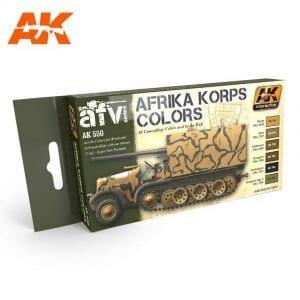 AK550 acrylic paint set akinteractive modeling