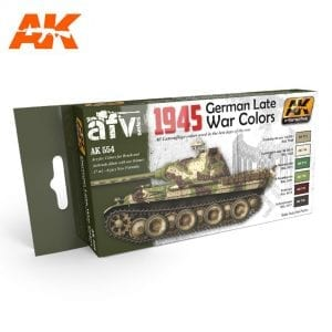 AK554 acrylic paint set akinteractive modeling