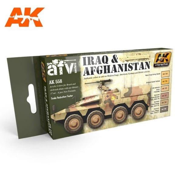 AK558 acrylic paint set akinteractive modeling