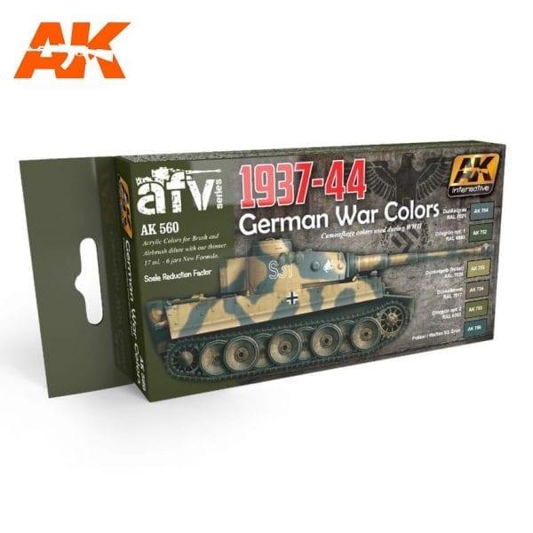 AK560 acrylic paint set akinteractive modeling