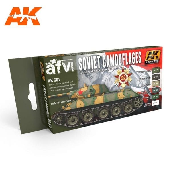 AK561 acrylic paint set akinteractive modeling