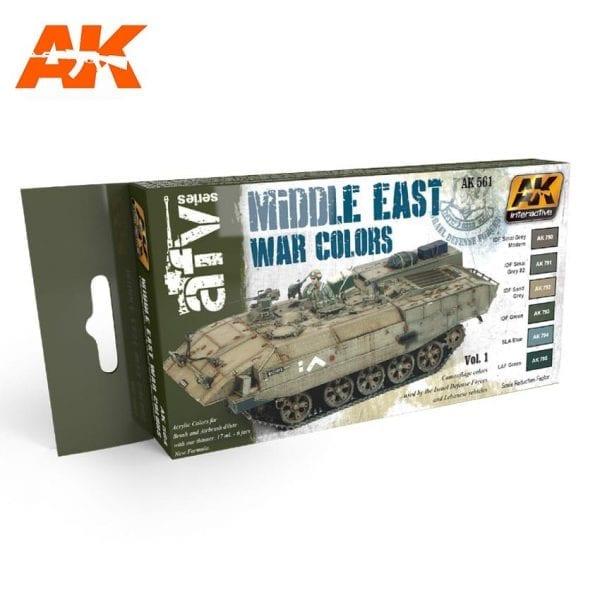 AK564 acrylic paint set akinteractive modeling