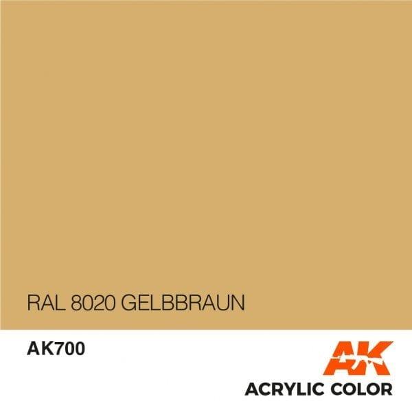 AK700 RAL 8020 GELBBRAUN