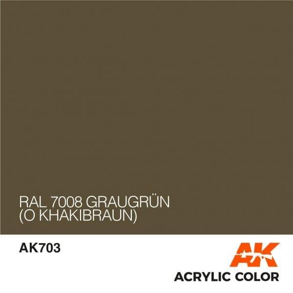 AK703 RAL 7008 GRAUGRÜN