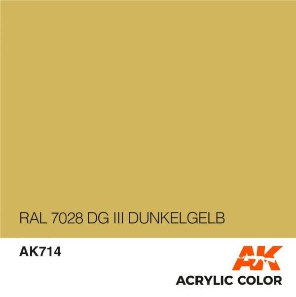 AK714 RAL 7028 DG III DUNKELGELB
