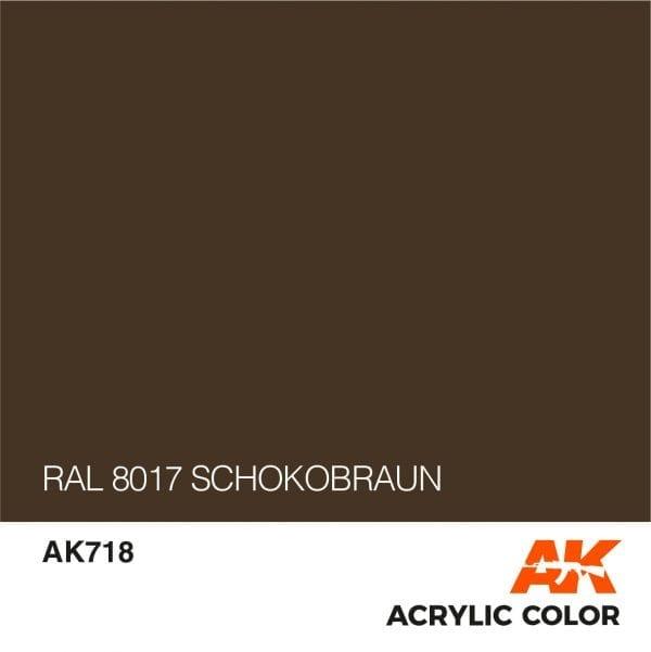 AK718 RAL 8017 SCHOKOBRAUN