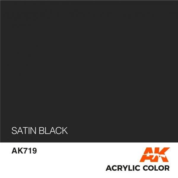 AK719 SATIN BLACK