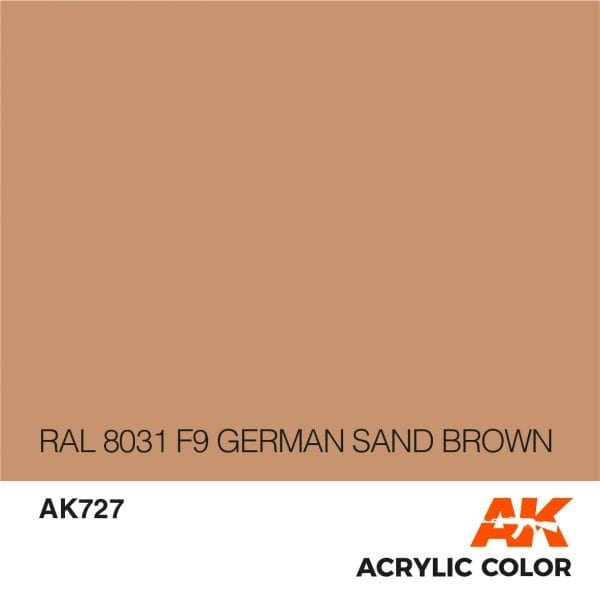 AK727 RAL 8031 F9 GERMAN SAND BROWN