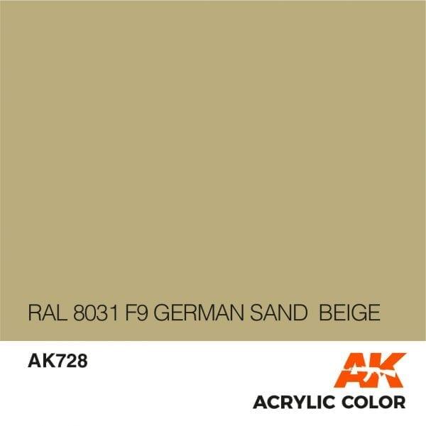 AK728 RAL 8031 F9 GERMAN SAND BEIGE