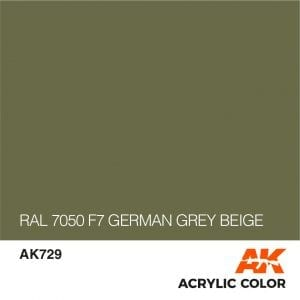 AK729 RAL 7050 F7 GERMAN GREY BEIGE