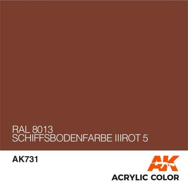 AK731 RAL 8013 SCHIFFSBODENFARBE IIIROT 5