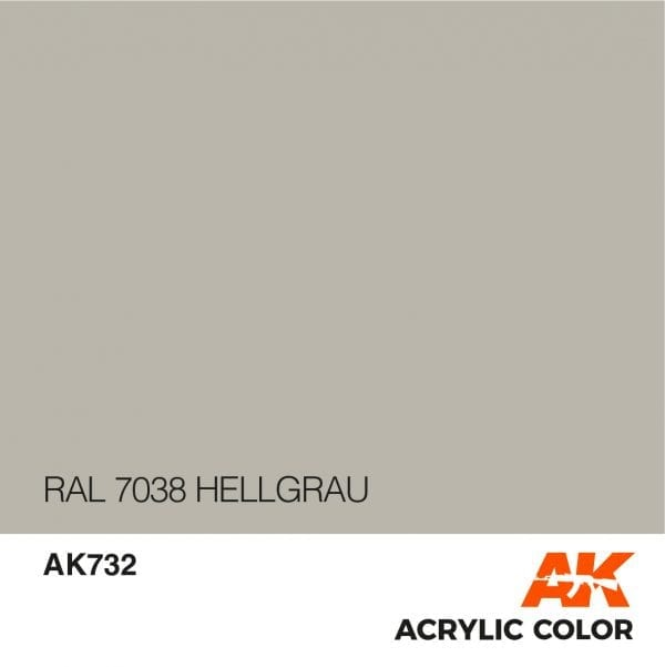 AK732 RAL 7038 HELLGRAU