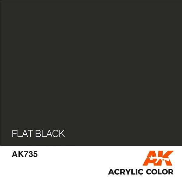 AK735 FLAT BLACK