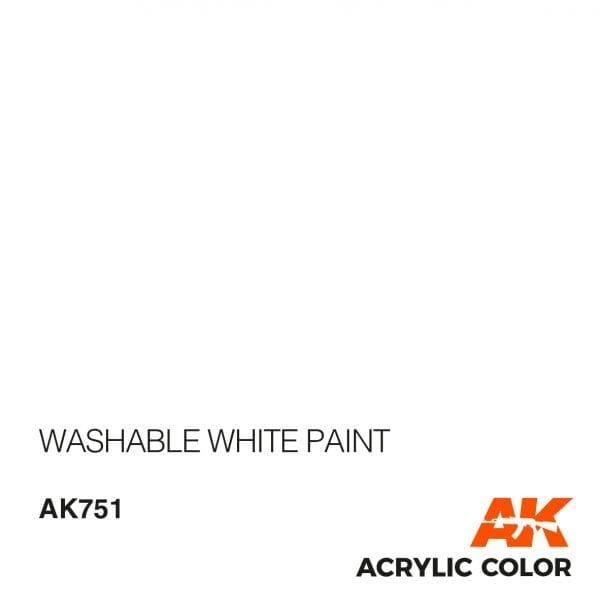 AK751 WASHABLE WHITE PAINT