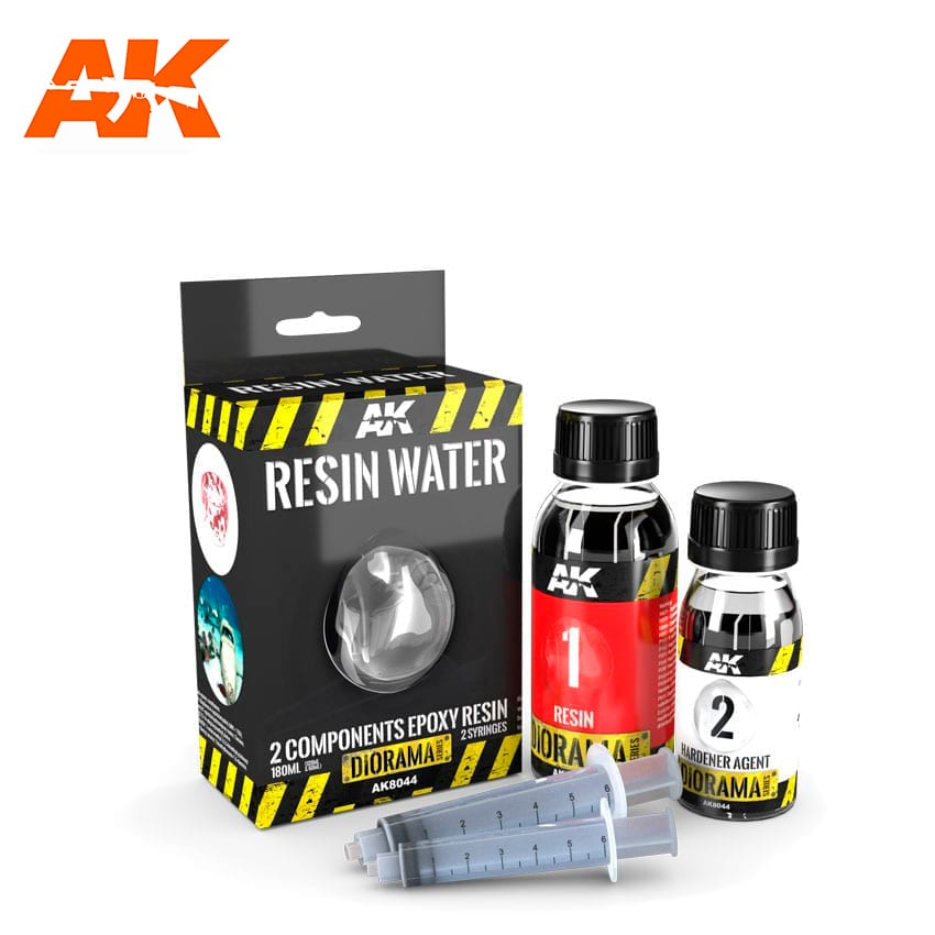 RESIN WATER 2 COMPONENTS EPOXY RESIN 180ml