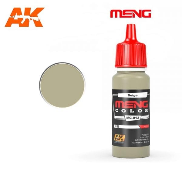 MC-012 acrylic paint meng akinteractive modeling