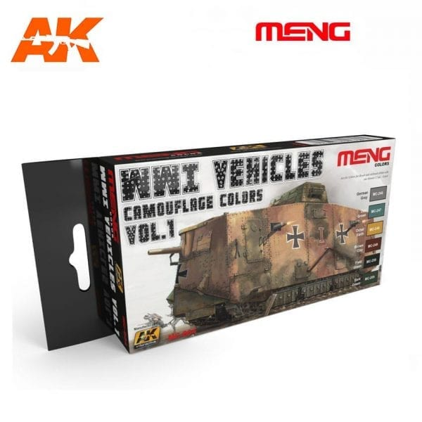 MC804 acrylic paint set meng akinteractive modeling