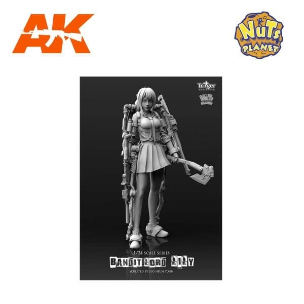 NP T75026 nuts planet akinteractive resin figure