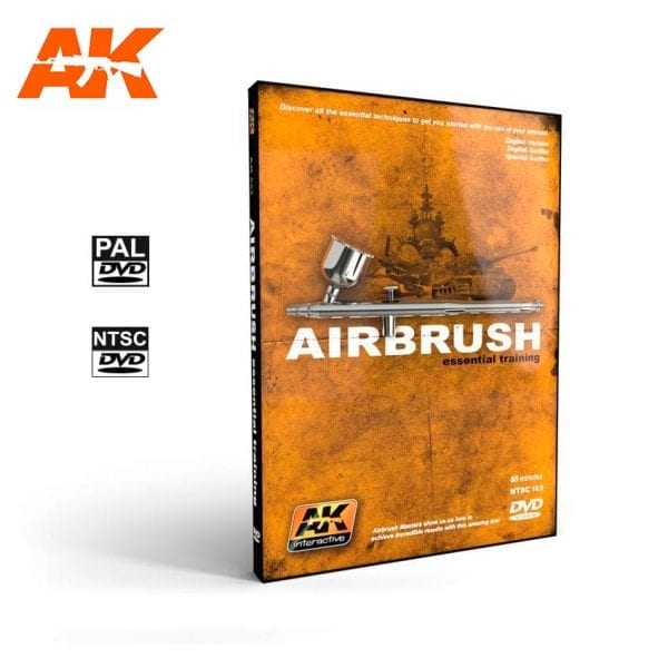 AK652 airbrush training dvd akinteractive